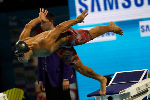 Photo: Trinidad and Tobago's Dylan Carter competes in the 200m Freestyle final at the 13th FINA World Swimming Championships at the WFCU Centre on 7 December 2016 in Windsor Ontario, Canada. (Copyright AFP 2017/Gregory Shamus/Getty Images)