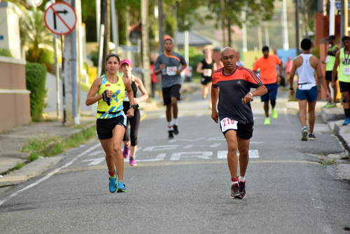 Photo: Runners challenge each other at the COSTAATT 5K on Sunday 2 April 2017. (Copyright Andre Cadogan/COSTAATT)
