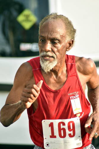 Photo: Dexter Hoyte, 77, was the oldest participant in the COSTAATT 5K on Sunday 2 April 2017. (Copyright Andre Cadogan/COSTAATT)