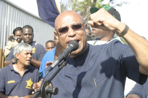 Photo: Oilfields Workers Trade Union (OWTU) president general Ancel Roget. (Copyright Industriall-Union.org)