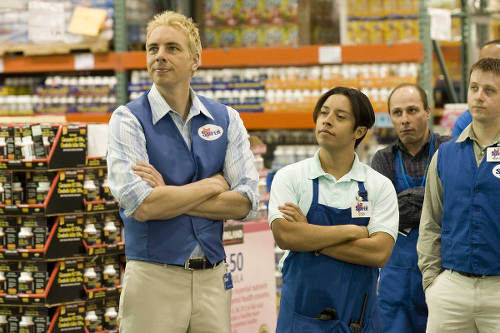 Photo: Actors Dax Shepard (left) and Efren Ramirez in a scene from the movie Employee of the Month.
