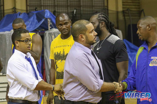 Photo: Former NBFTT president Garvin Warwick (far left) is the current advisor to Sport Minister Darryl Smith. (Courtesy Sean Morrison/Wired868)