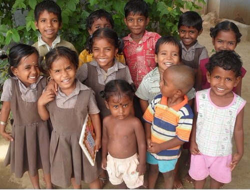 Photo: Children at an orphanage in India.
