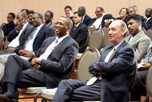 Photo: Chief Justice Ivor Archie (centre). (Copyright News.Gov.TT)