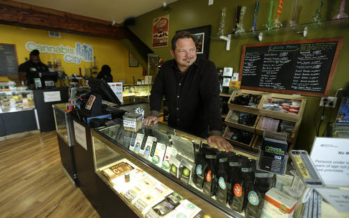 Photo: A marijuana store is open for legal business in Colorado.