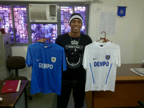 Photo: Densill Theobald shows off his Dempo SC gear.