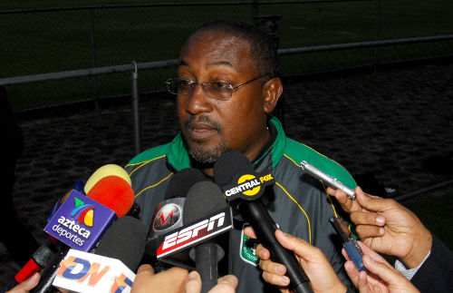 Photo: Jamaal Shabazz made history with the Guyana national football team and Neal & Massy Caledonia AIA in 2012.