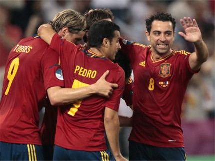 Photo: The Spanish football team has a winning habit.