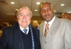 Anil Roberts and Sepp Blatter
