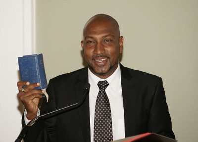 Photo: Sport Minister and COP MP Anil Roberts.