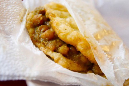 Photo: Doubles are a popular Trinidad and Tobago snack.