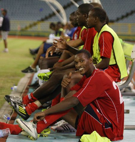 Photo: Caledonia AIA and Trinidad and Tobago midfielder Ataullah Guerra (foreground). (Courtesy Wired868)