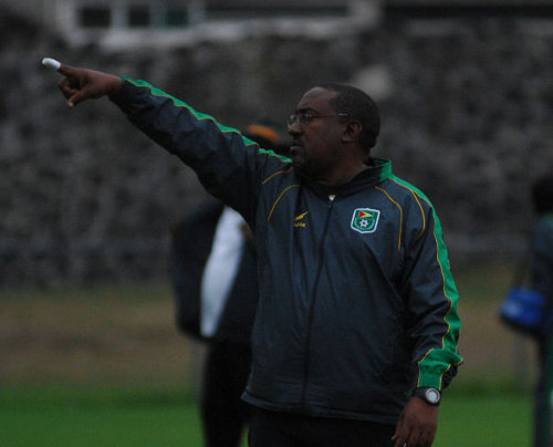 Photo: Former Trinidad and Tobago co-head coach Jamaal Shabazz on international duty with Guyana.