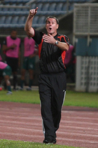 Photo: Central FC coach Terry Fenwick. (Courtesy Photos868)