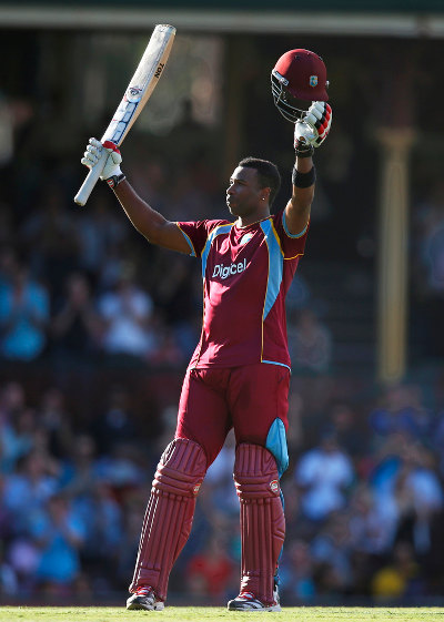 Photo: Trinidad and Tobago batsman Kieron Pollard has been a bright spot for the West Indies. (Courtesy WICB Media)