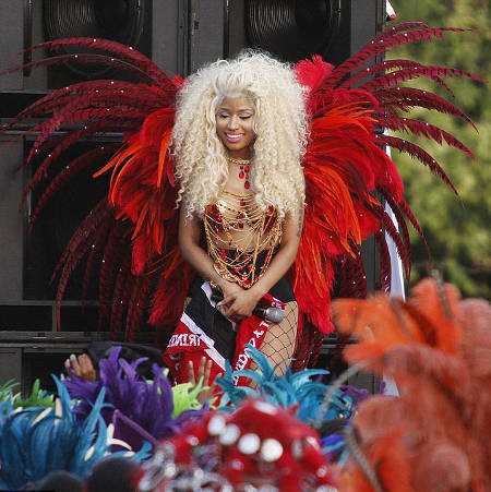 Photo: Nicki Minaj, please wink once if you are in danger or twice for more doubles. (Courtesy Thesweet7.com)