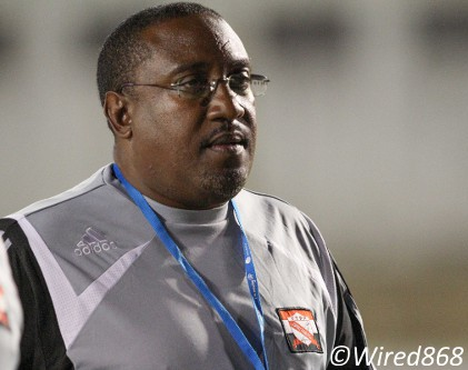 Photo: Caledonia AIA head coach Jamaal Shabazz. (Courtesy Allan V. Crane/Wired868)