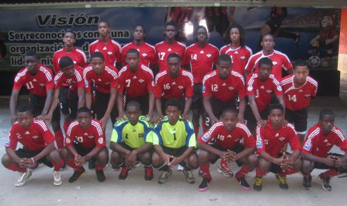 Photo: The Trinidad and Tobago national under-17 team poses before a pre-tournament tour in 2013. Shawn Cooper was head coach of the youth team while Terrence Marcelle was an assistant. (Courtesy TTFF Media)