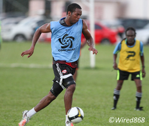 "Photo: Trinidad and Tobago defender Carlyle Mitchell was again a bright spark for the ""Soca Warriors"". (Courtesy Allan V. Crane/Wired868)"
