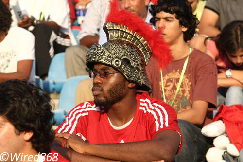 "Photo: This football fan is among hundreds of supporters who will not be seeing the ""Soca Warriors"" play live anytime soon. (Courtesy Wired868)"