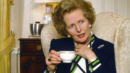 Photo: The late ex-Britain Prime Minister Margaret Thatcher.