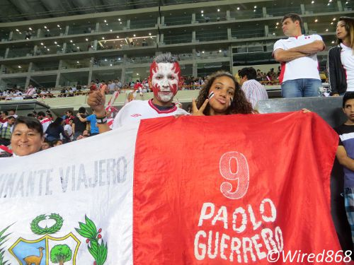 Photo: Peru football supporters revel in a good night out. (Courtesy Juliet Solomon/Wired868)