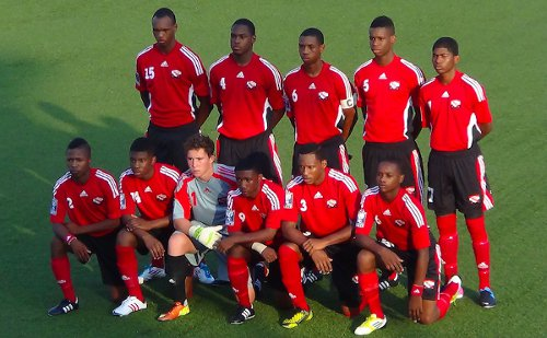 Photo: The Trinidad and Tobago national under-17 team failed to hang on to a first half lead against Panama.  (Courtesy TTFF Media)