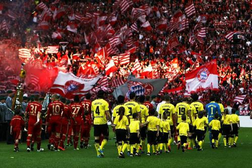 Photo: German powerhouses Bayern Munich and Borussia Dortmund meet in the UEFA Champions League final on Saturday.