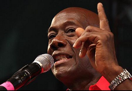 Photo: Opposition Leader Keith Rowley.
