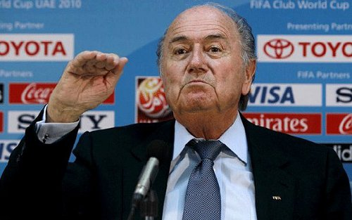 Photo: FIFA president Sepp Blatter and his football body stand to benefit more than Brazilians from the 2014 World Cup. (Courtesy Daily Telegrah.co.uk)