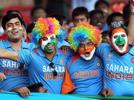 Photo: India cricket fans. (Courtesy Hindustantimes.com)