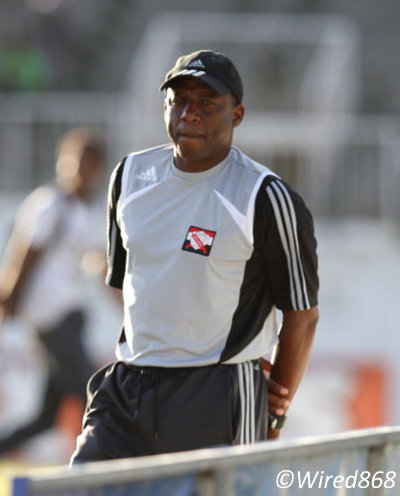 "Photo: Trinidad and Tobago assistant coach Hutson ""Barber"" Charles was a key member of the ""Strike Squad."" (Courtesy Allan V. Crane/Wired868)"