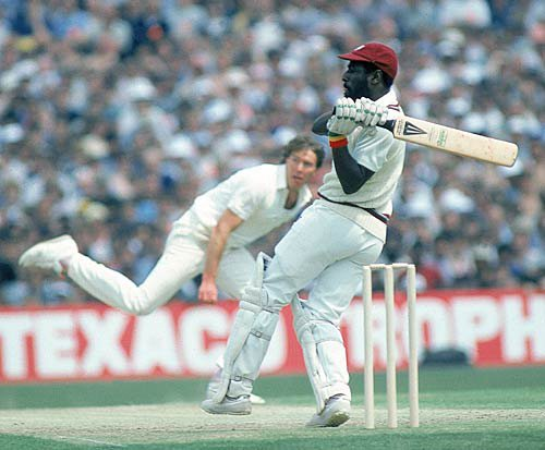 Photo: Legendary former West Indian captain Sir Viv Richards in action. (Courtesy ESPNCricinfo)