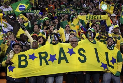 Photo: Brazil's football supporters are notoriously hard to please. But they are starting to believe.