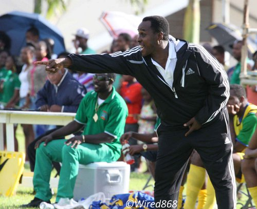 Photo: Guaya coach Ron La Forest has done wonders with the Super League team this season. He was not nearly as successful with fourth official Cecile Hinds yesterday. (Courtesy Wired868)