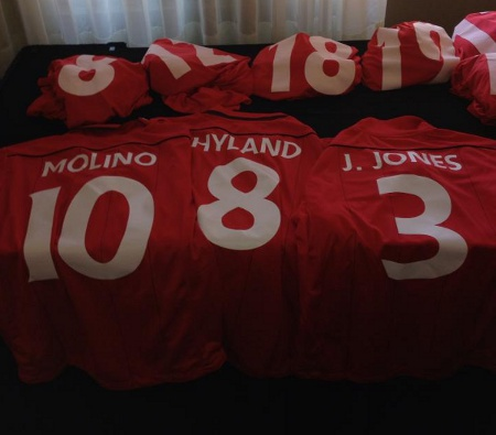 Photo: Trinidad and Tobago utility player Joevin Jones shared a photo of the team's new gear on Facebook.