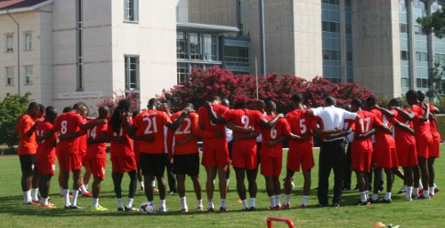 Photo: The Trinidad and Tobago national football team prepares in Atlanta for its quarterfinal challenge against Mexico. (Courtesy TTFA Media)