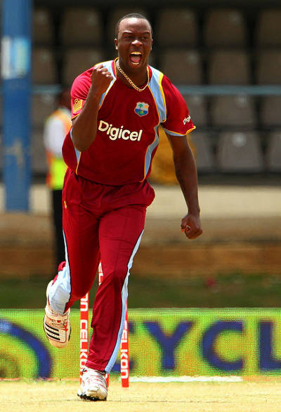 Photo: West Indies fast bowler Kemar Roach. (Courtesy Westindiescricket)