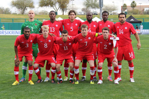 Photo: The Canada 2013 Gold Cup team. (Courtesy CONCACAF)