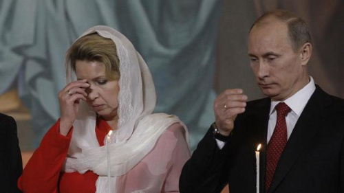 Photo: Civil war, Vladimir? Russia president Vladimir Putin (right) and his wife, Lyudmila, announced their separation in June.