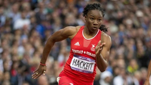Photo: Trinidad and Tobago sprinter Semoy Hackett.