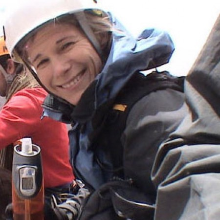 Photo: Kelly Perkins has been scaling mountains ever since her heart transplant in 1995. (Courtesy www.growingbolder.com)