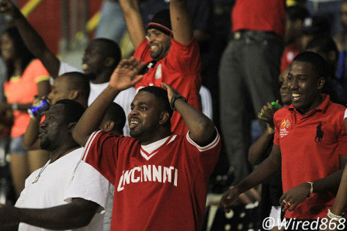 Photo: Point Fortin Civic football fans can hardly believe their eyes since their stunning return to the top flight. (Courtesy Allan V. Crane/Wired868)