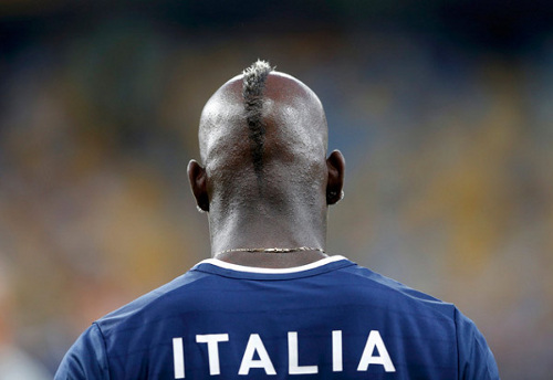 Photo: Italy and AC Milan star Mario Balotelli has frequently been subjected to racist abuse on the football field.