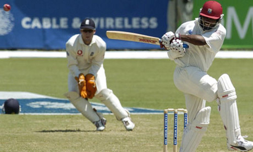 Photo: West Indies cricket great Brian Lara at work. (Courtesy Guardian.com)