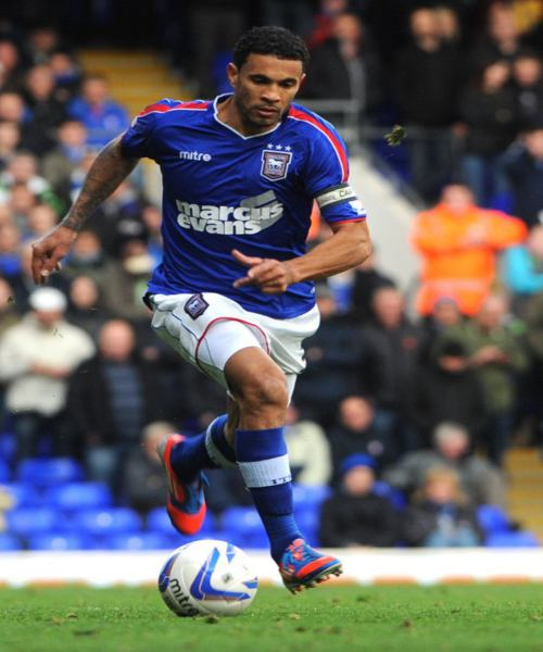 Photo: Carlos Edwards in action for Ipswich Town.