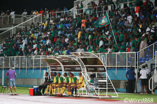 "Photo: The Guaya football club can generally count on the full support of the ""Green Army."" (Courtesy Allan V Crane/Wired868)"