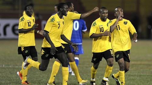 "Photo: The ""Reggae Boyz"" are set to meet the ""Soca Warriors"" this November for the first time in three years. (Courtesy FIFA.com)"
