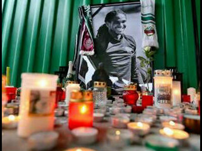 Photo: Ferencvaros pays tribute to its former player Akeem Adams.