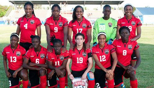 Photo: The Trinidad and Tobago national under-20 women's football starting team against Honduras. (Courtesy CONCACAF.com)